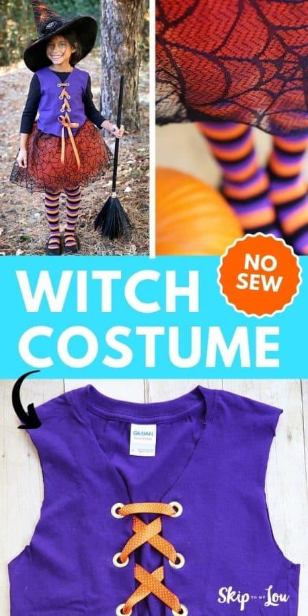 witch costume no sew diy PIN