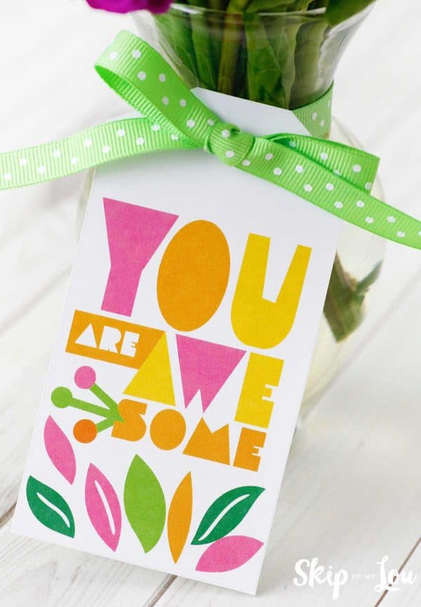 you are awesome gift tag for friend gift