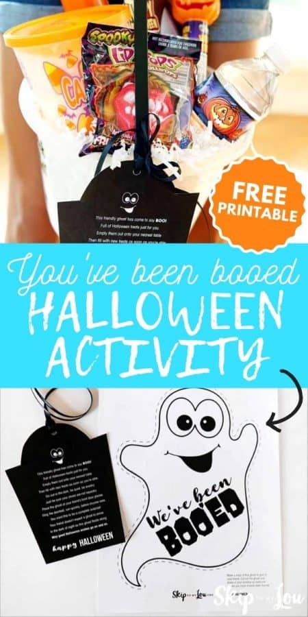 you've been booed halloween activity PIN