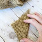 how to make burlap wreath fold burlap square in half