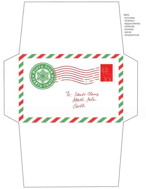 letter to santa envelope printable