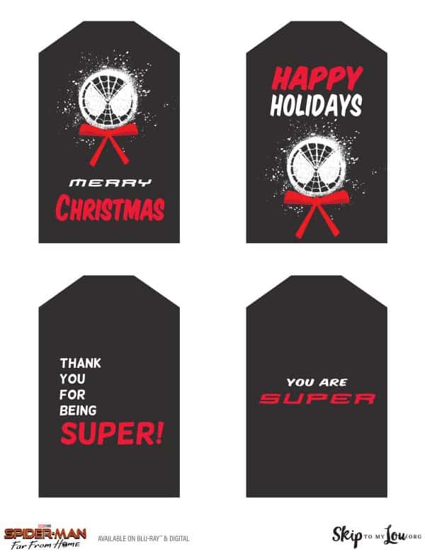 Spider-Man Far From home gift tags