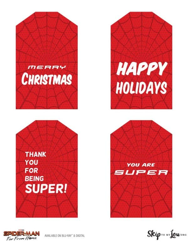 Spider-Man Gift Tags