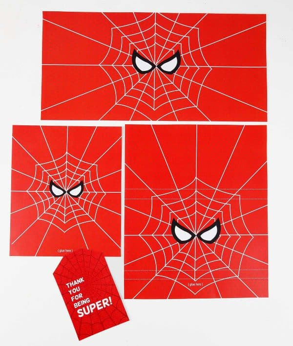Spider Man Printable Labels