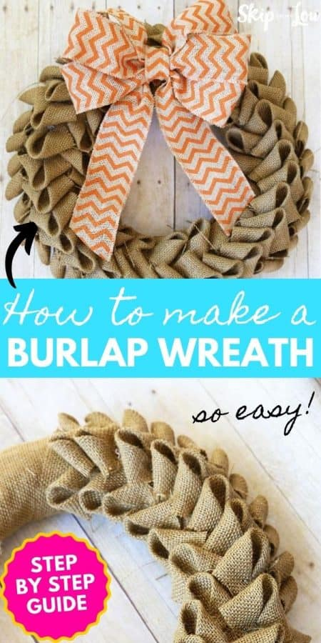 burlap wreath diy PIN