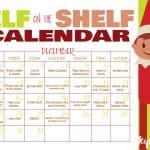 elf calendar filled out