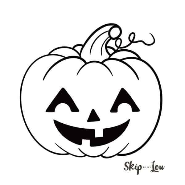 happy jack o lantern drawing