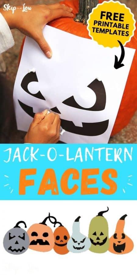 jack o lantern faces printable PIN