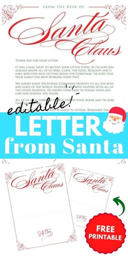 letter from santa PIN