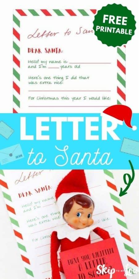 letter to santa printable PIN