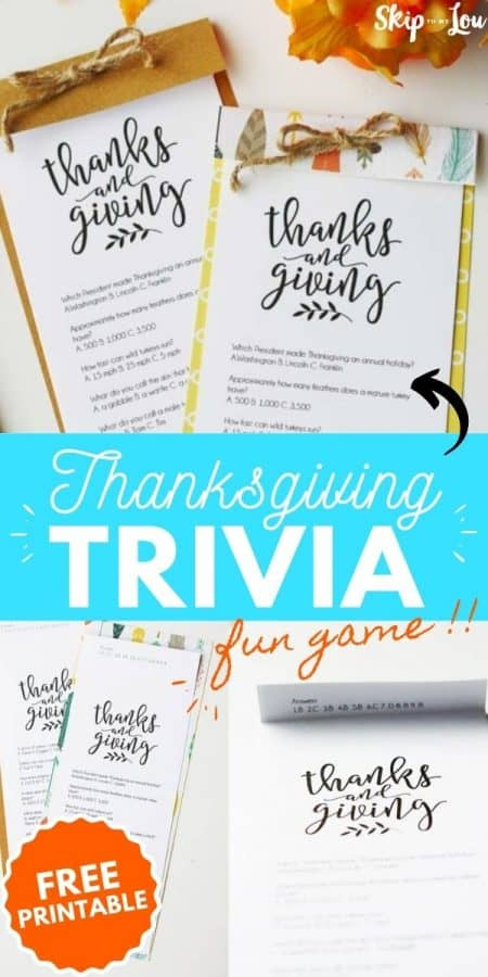 thanksgiving trivia game PIN