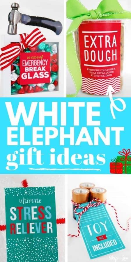 white elephant gift ideas PIN