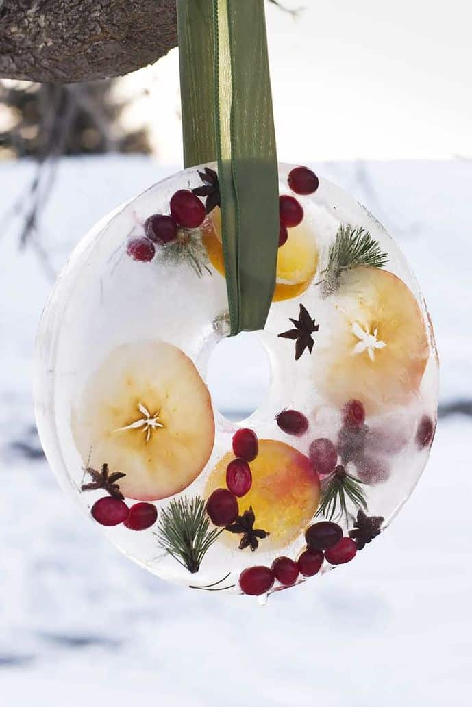 winter ice wreath