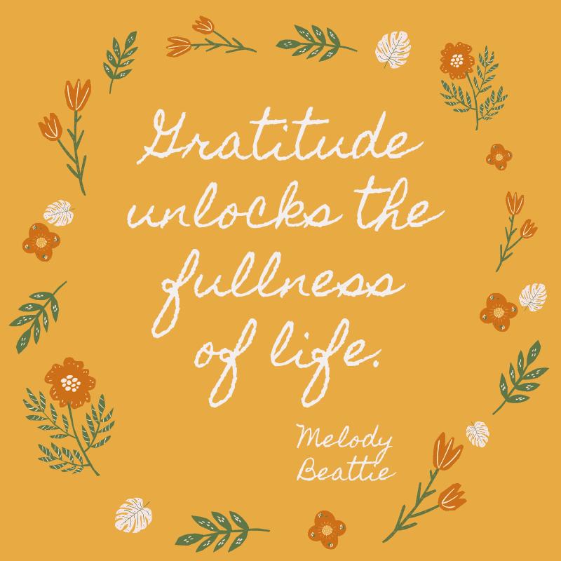 Gratitude unlocks the fullness of life. Melody Beattie