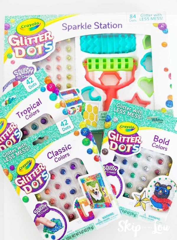 boxes of Crayola Glitter dots