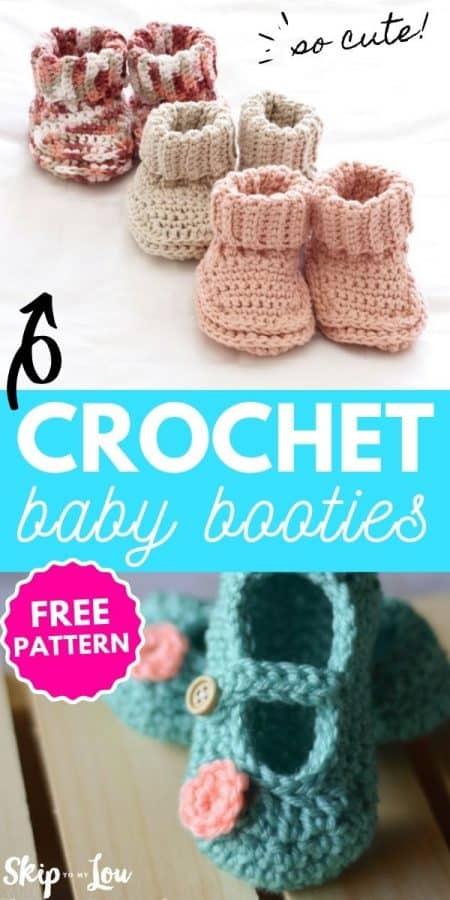 crochet baby booties PIN