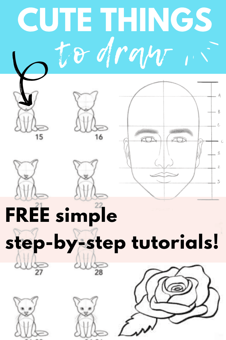cute step by step drawing tutorials PIN