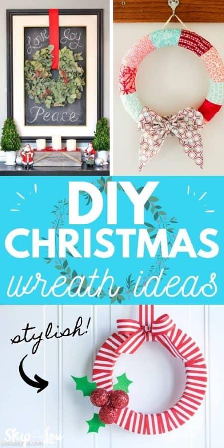 diy christmas wreath ideas PIN