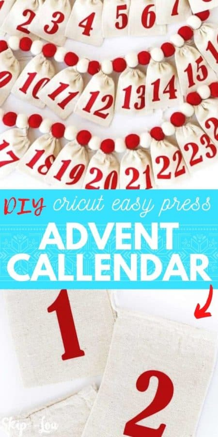 diy cricut advent calendar PIN
