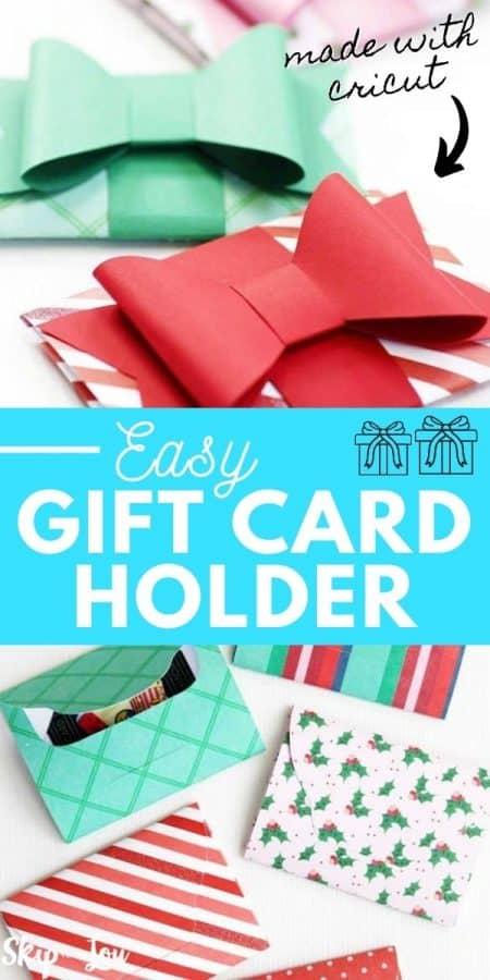 easy cricut gift card holder PIN