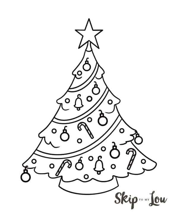 how to draw a Christmas tree illustration