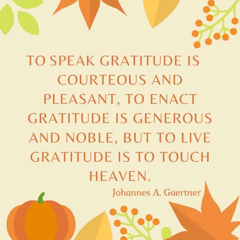 to speak gratitude quote