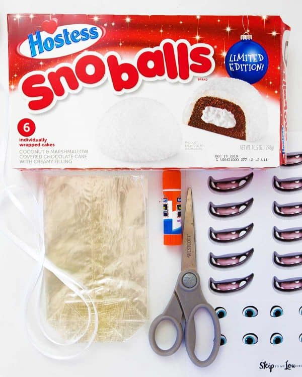 Abominable Yeti Supplies snoballs printables bags scissors glue stick