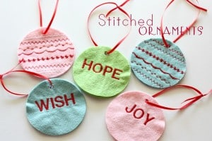hand stitched ornaments