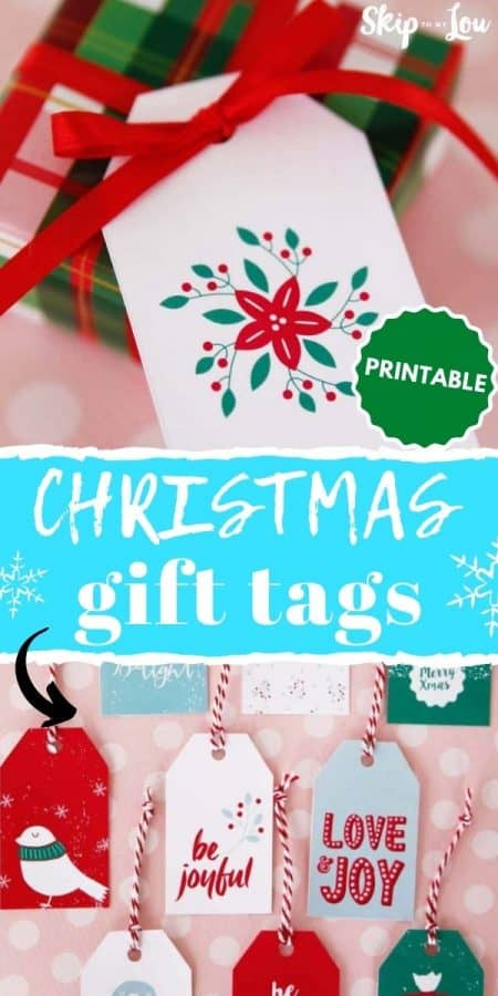 christmas printable tags PIN