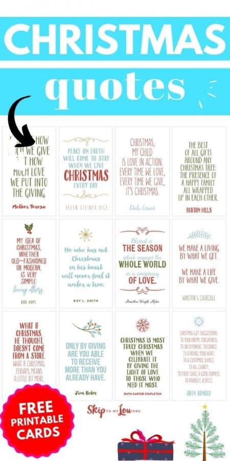 christmas quotes printable PIN
