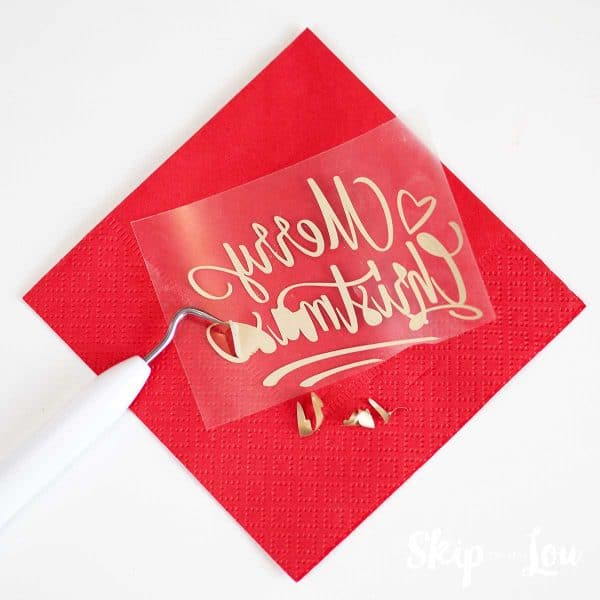 weed merry christmas on red napkin