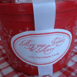 plastic bucket with may you holiday merry fill with frozen tumblewood