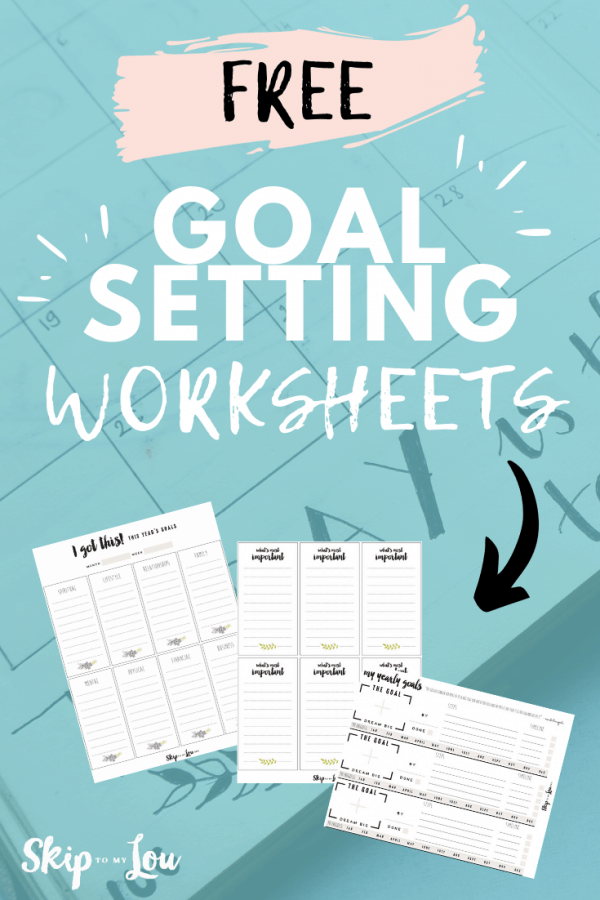 goal setting worksheets printable PIN