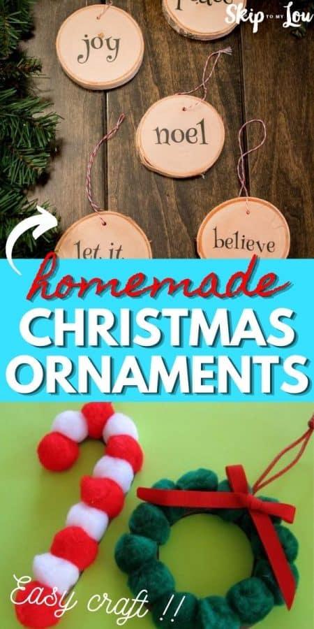 homemade christmas ornaments PIN