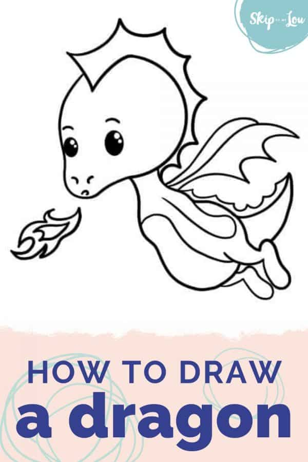 how to draw a dragon PIN