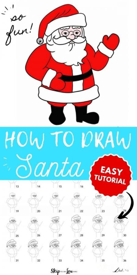 how to draw santa PIN