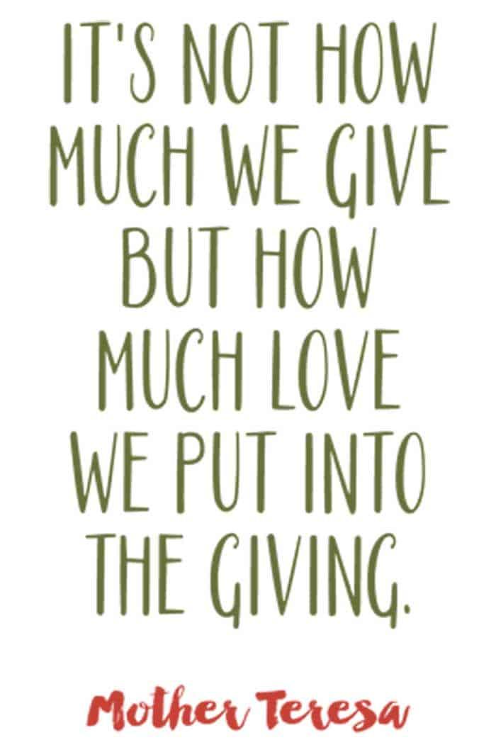mother teresa christmas quote