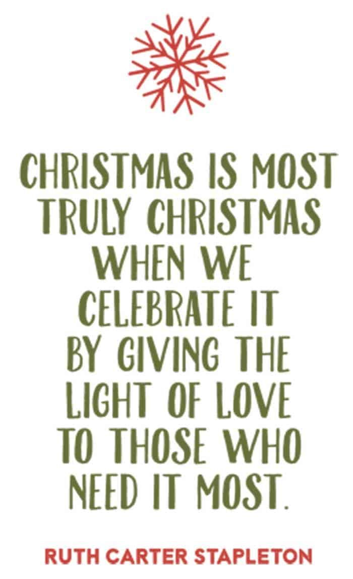 quote by ruth carter stapleton for Christmas
