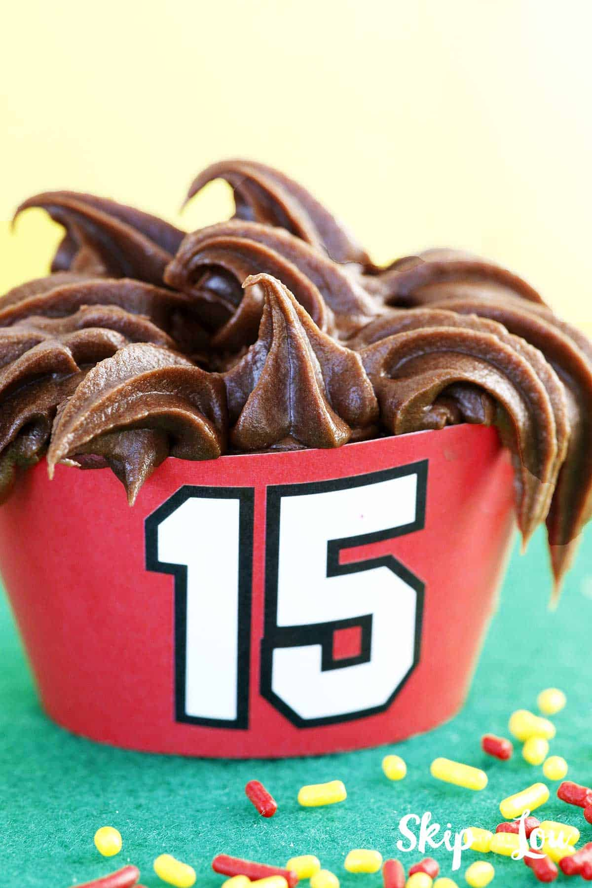 mahomes cupcake #15 printable wrapper