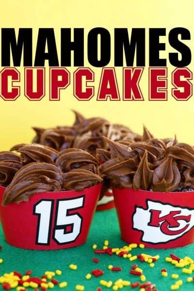 mahomes cupcakes