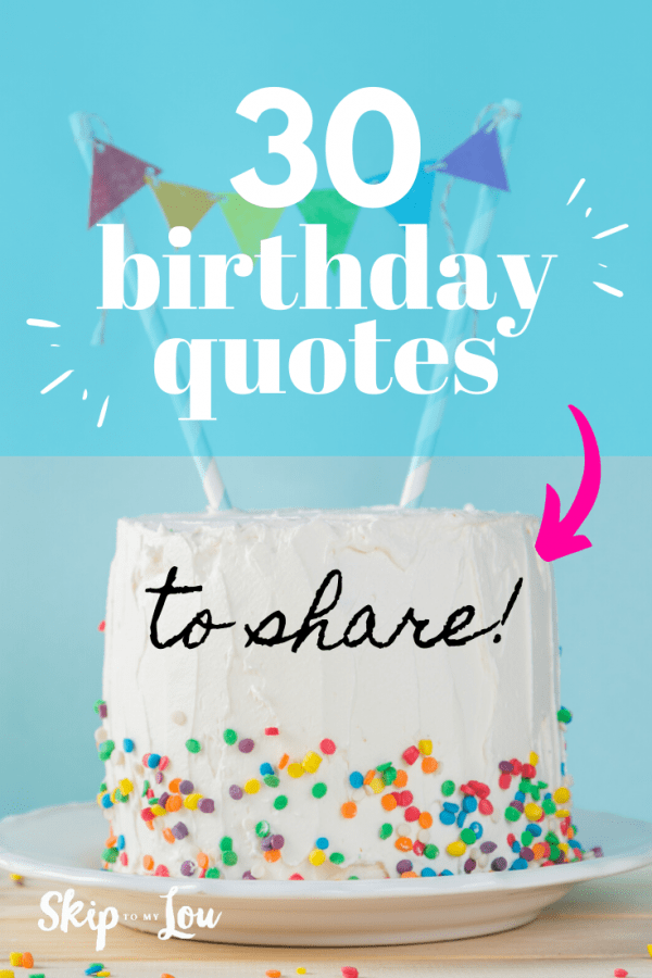 birthday quotes to share PIN