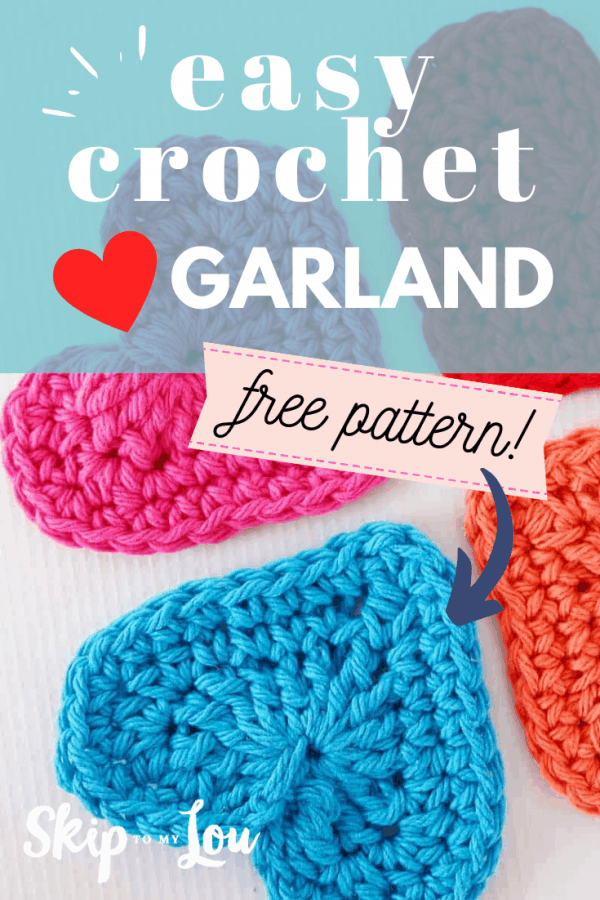 crochet heart garland PIN