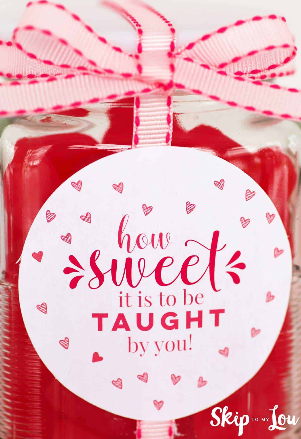 jar with how sweet it is to be taught by you label