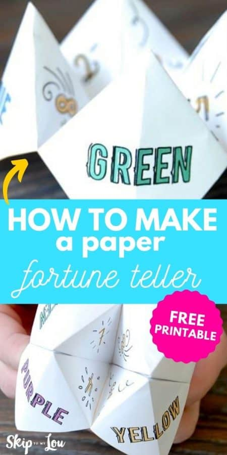how to make paper fortune teller PIN