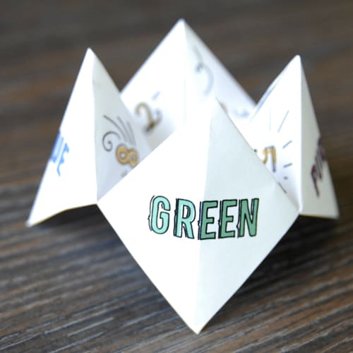 How To Make A Paper Fortune Teller Game Skip To My Lou