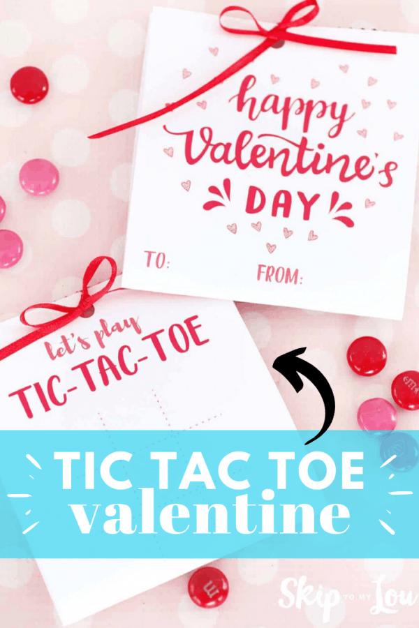 tic tac toe valentine card craft PIN