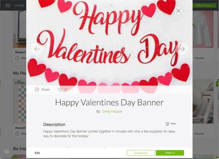Happy Valentine's Day Cricut Screen cutting file