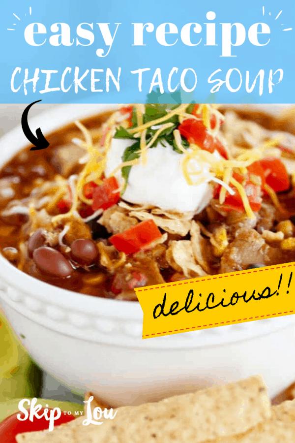chicken taco soup recipe PIN