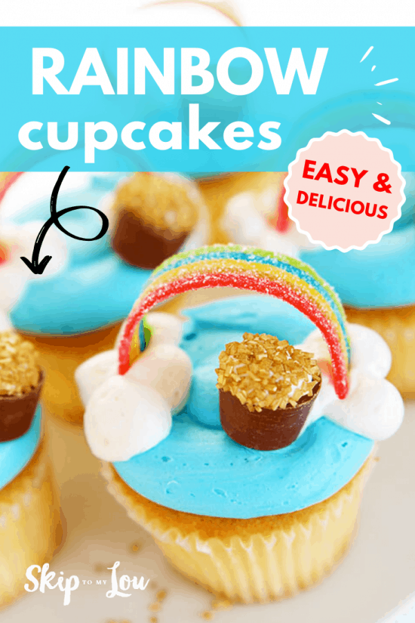 easy rainbow cupcakes recipe PIN