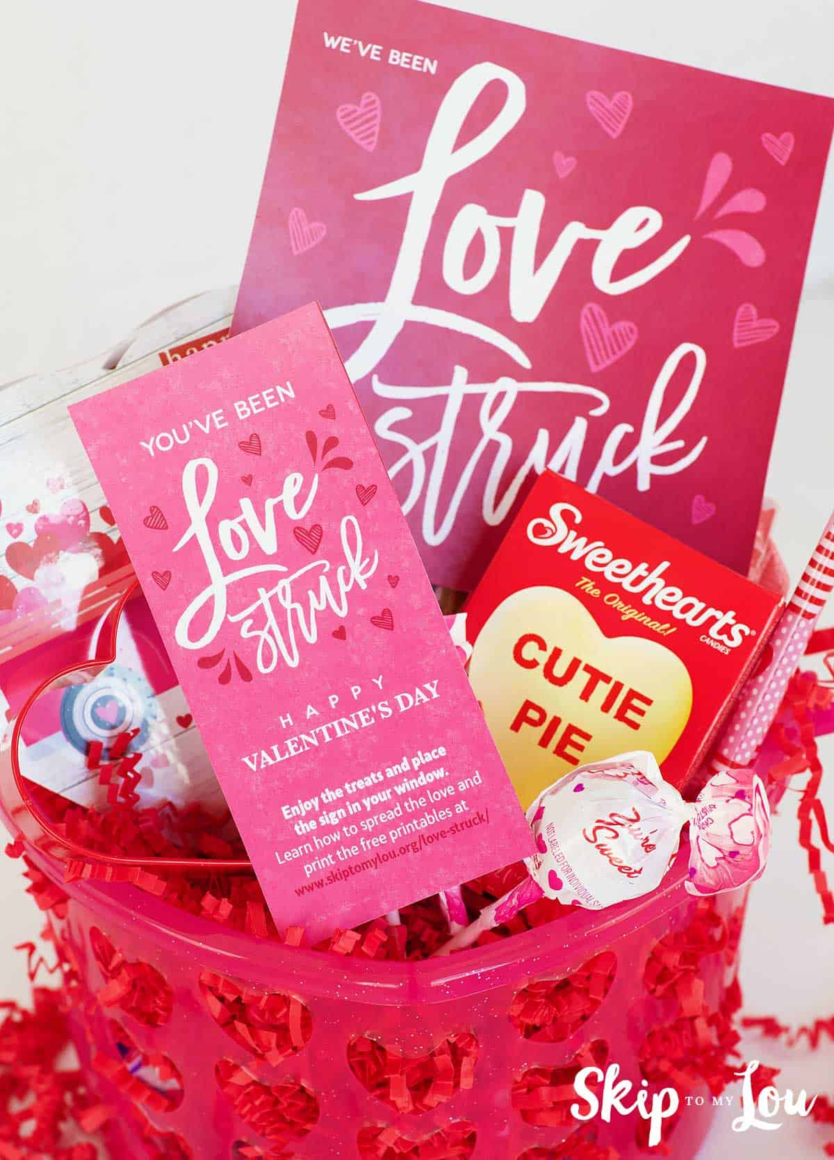 valentine basket for love struck activity